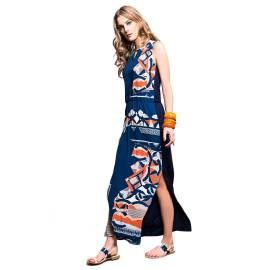 EDAS Sentiero long blu dress