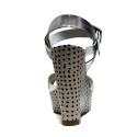 Fornarina Sandali Donna Con Zeppa Alta Art. PEFBX8943WMA9000 Birky Silver Metallic