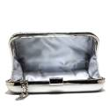 Ikaros gem clutch bag woman A5331SILV Silver