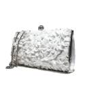 Ikaros borsa gioiello donna pochette floreale A2839BIAN Bianco