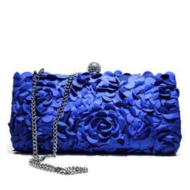 Ikaros borsa gioiello donna pochette floreale A2839BLUET Blu