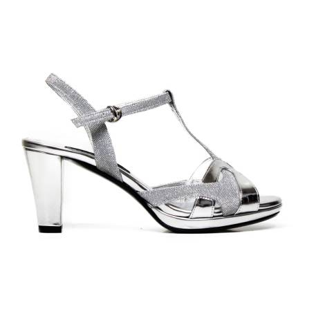 Bacta De Toi 165 Silver Sandal With Heel
