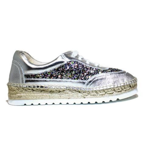 Viguera Sneakers Donna Con Zeppa Bassa 1310215235091 Deportivo Glitter Multi+Baby Plata