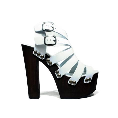Hops Sandals Women High Heel 15559 Pe White River
