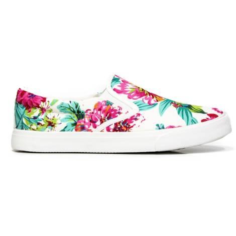 Slip on Kharisma 7031 white flowers