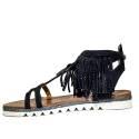 La Femme Plus Sandals Women High Low Art. SF02-2 Black