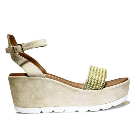 La Femme Plus Sandalo Donna Zeppa Alta Art. 035-4A Suede