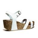 Bio Natural Sandalo Donna Zeppa Media Art. 101 Bio 60 Bianco