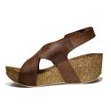 Bio Natural Wedge Medium Women Sandals Art. 110 Leather