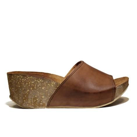 Bio Natural Sandalo Donna Zeppa Media Art. 100 Cuoio