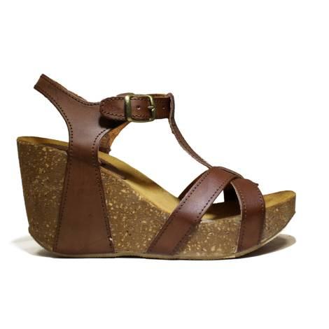 Bio Natural Wedge Heel Women Sandals Art. 104 Leather
