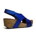 Bio Natural Sandalo Donna Zeppa Media Art. 110 Blu