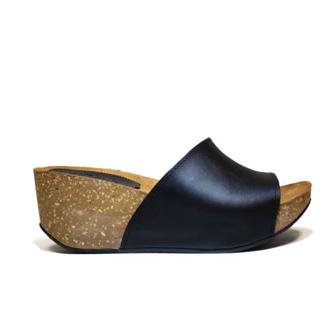 Bio Natural Wedge Medium Women Sandals Art. 100 Black