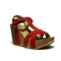 Onyx Women's Sandals Wedge Heel Art. AG 337 Band In. Red Crust