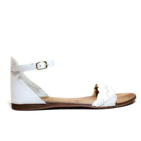 Scarpine Italiane Sandals Low Woman Treccia z10 White
