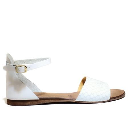 Scarpine Italiane Sandals Low Woman Fascia z10 White Pit