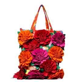 Antica Sartoria Positano borsa mare 20161087 fiori