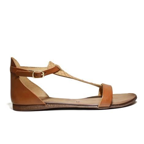 Scarpine Italiane Sandals Low Woman Triangle z.10 Leather Pit