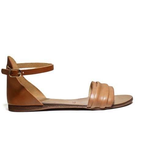 Scarpine Italiane Sandals Low Woman Plissè z.10 Leather