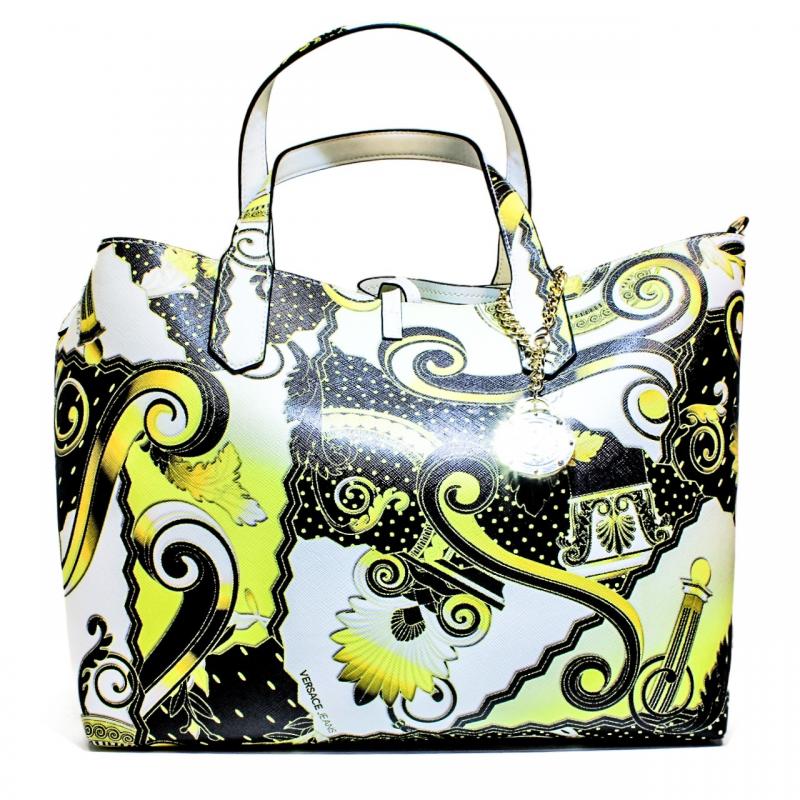 Versace Jeans Borsa Media Donna Art. E1VNBBI7 75288 M27 Nero Oro Bianco 49645023f2a