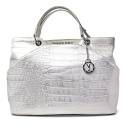 Versace Jeans Borsa Grande Donna Art. E1VNBBC1 75282 003 Bianco Argento