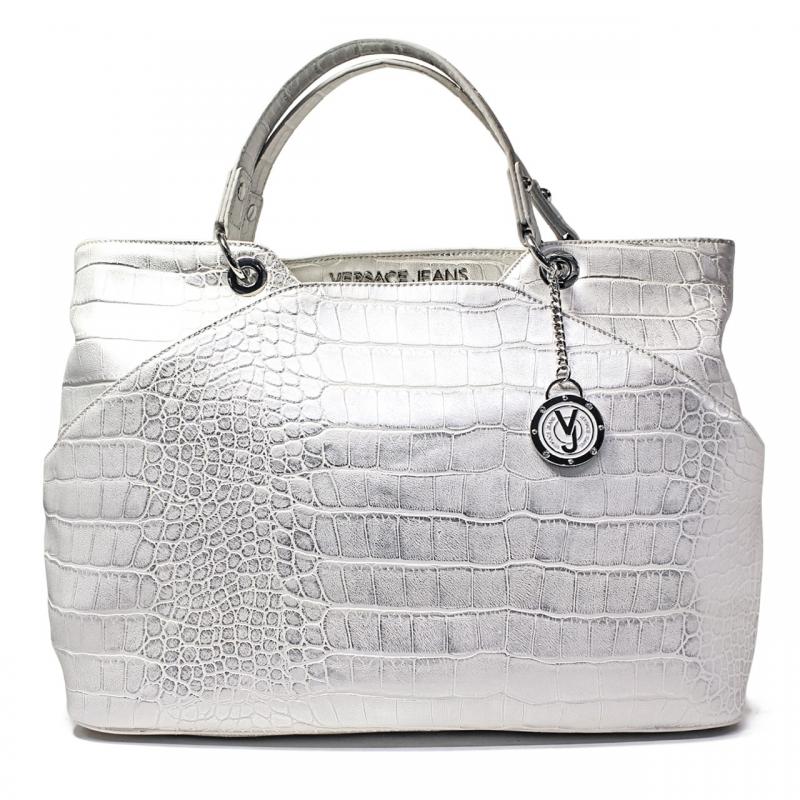 Versace Jeans Borsa Grande Donna Art. E1VNBBC1 75282 003 Bianco Argento 9d81dd9635c
