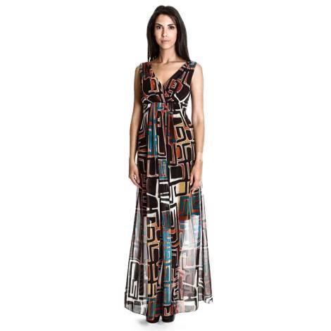 Long woman dress C23 CRISTALLO Sandro Ferrone