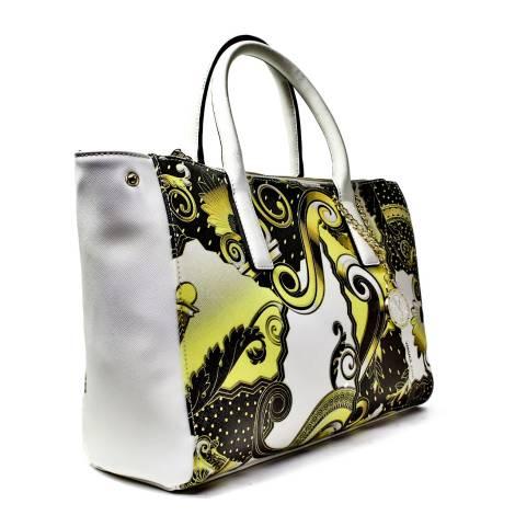 Versace Jeans Woman Stock Exchange Media Art. E1VNBBI2 75288 M27 White  Black Gold 2c4d0ace2bac1