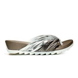 Bueno Shoes Sandalo Donna Zeppa Bassa E615 A424 Bianco