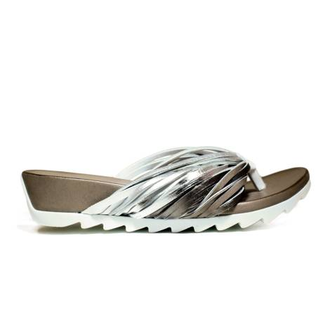 Bueno Shoes Sandals Women Wedge Low E615 A424 White