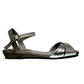 Bueno Shoes Sandalo Donna Tacco Basso KROSS A472 Plata Roccia