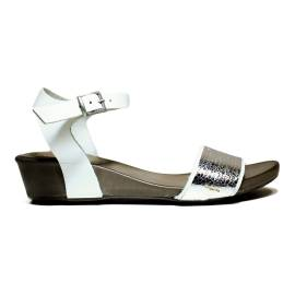 Bueno Shoes Sandalo Donna Tacco Basso SENSE A529 Argento