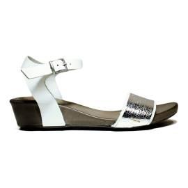 Bueno Shoes Sandals Women's Low Heel SENSE A529 Silver