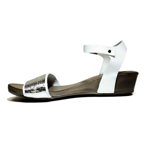 Sandalo Donna Argento Bueno Shoes Tacco Basso Sense A529 bf76gyYvI