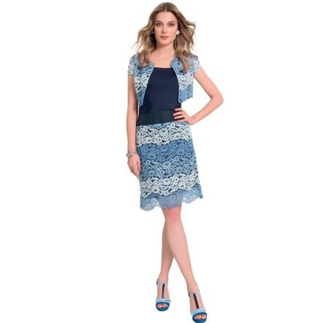 EDAS Tagliavino lace short blu dress