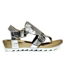 Bueno Shoes Sandalo Donna Zeppa Bassa E609 A402 Plata