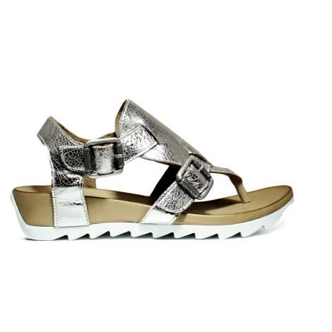 Bueno Shoes Sandals Women Wedge Low E609 A402 Plata