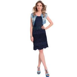 EDAS Tavernello lace blu cardigan