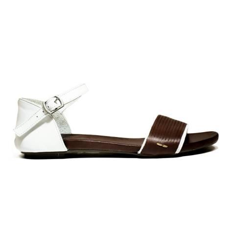 Bueno Shoes Sandals Women's Low Heel MERIT A132 Emo-White
