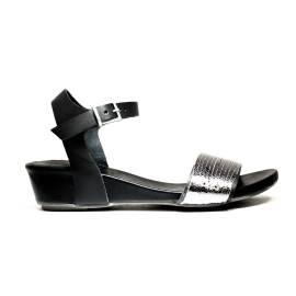 Bueno Shoes Sandalo Donna Tacco Basso SENSE A527 OLDGUN