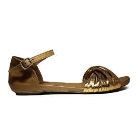 Bueno Shoes Sandalo Donna Tacco Basso MUSTO A542 Oro