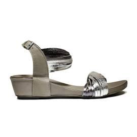 Bueno Shoes Sandals Women's Low Heel SINEM A565 Plata Rock