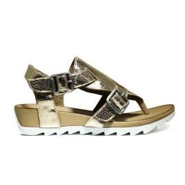 Bueno Shoes Sandalo Donna Zeppa Bassa E609 A401 Oro