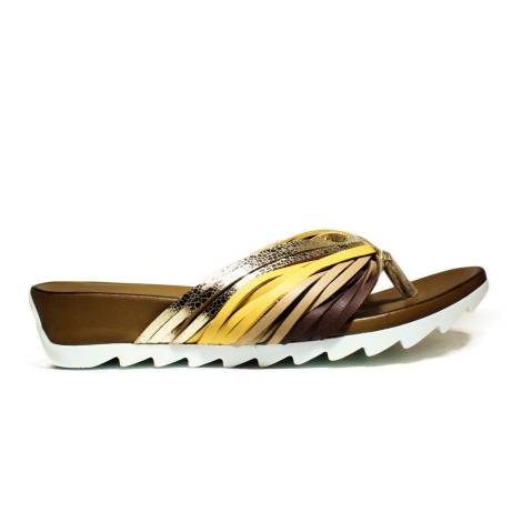 Bueno Shoes Sandals Women Wedge Low E615 A595 Gold