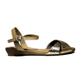 Bueno Shoes Sandals Women's Low Heel KROSS A408 Gold