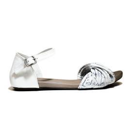 Bueno Shoes Sandalo Donna Tacco Basso MUSTO A561 Bianco