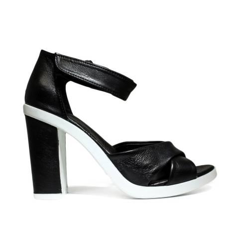 Bueno Shoes Sandalo Donna Tacco Alto VINE A117 Black