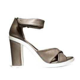 Bueno Shoes Sandalo Donna Tacco Alto VINE A569 Darkstone