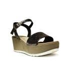 David Haron Women Wedge Sandals Medium Art. 95F1C Peltro