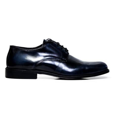 EXTON uomo scarpe eleganti stringate 493 ABRASIVATO BLUE